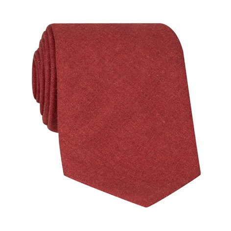 Silk and Cashmere Solid Tie in Chilli