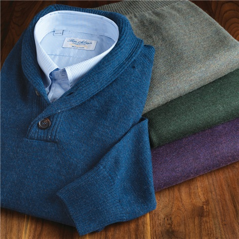 Royal Alpaca Shawl Collar Sweaters