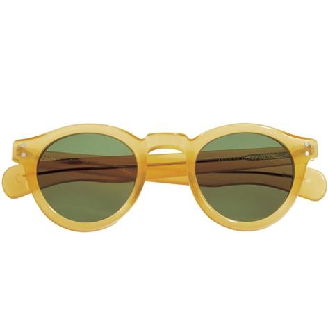 Bold Round Sunglasses in Translucent Yellow
