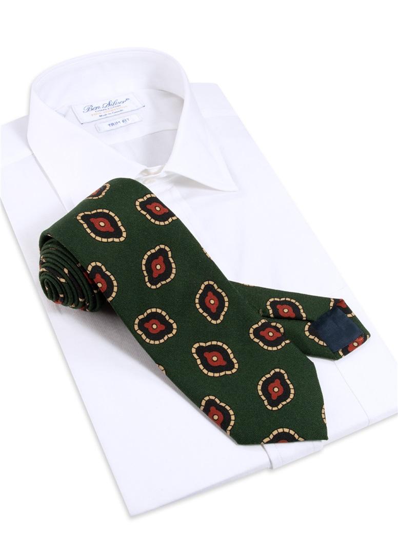 Wool Printed Tie in Tartan