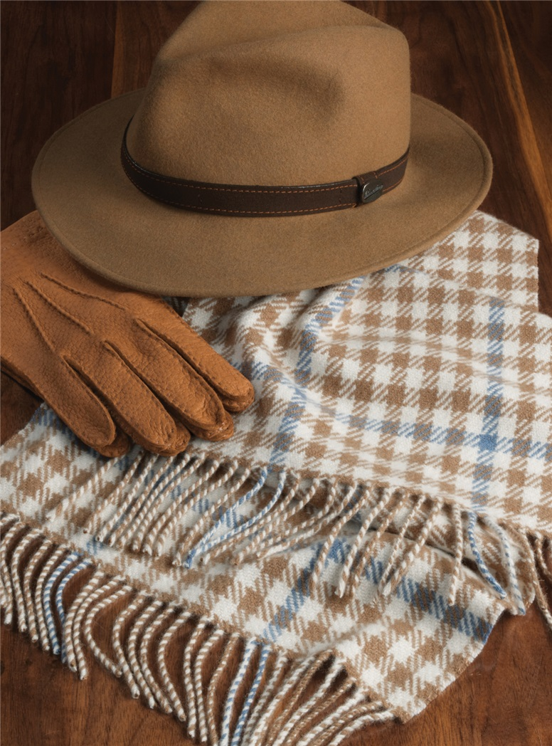 Cashmere Heritage Check Scarf