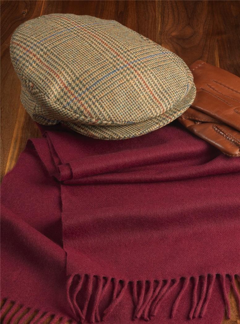 Wool Glen Plaid Helmsley Cap
