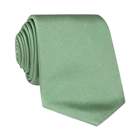 Silk Signature Solid Tie in Sage