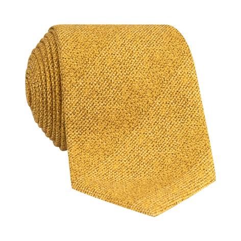 Silk Woven Tie in Mustard