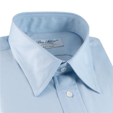 Classic Blue Twill Straight Collar
