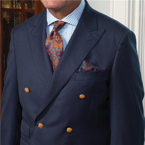 English Style Double Breasted Blazer