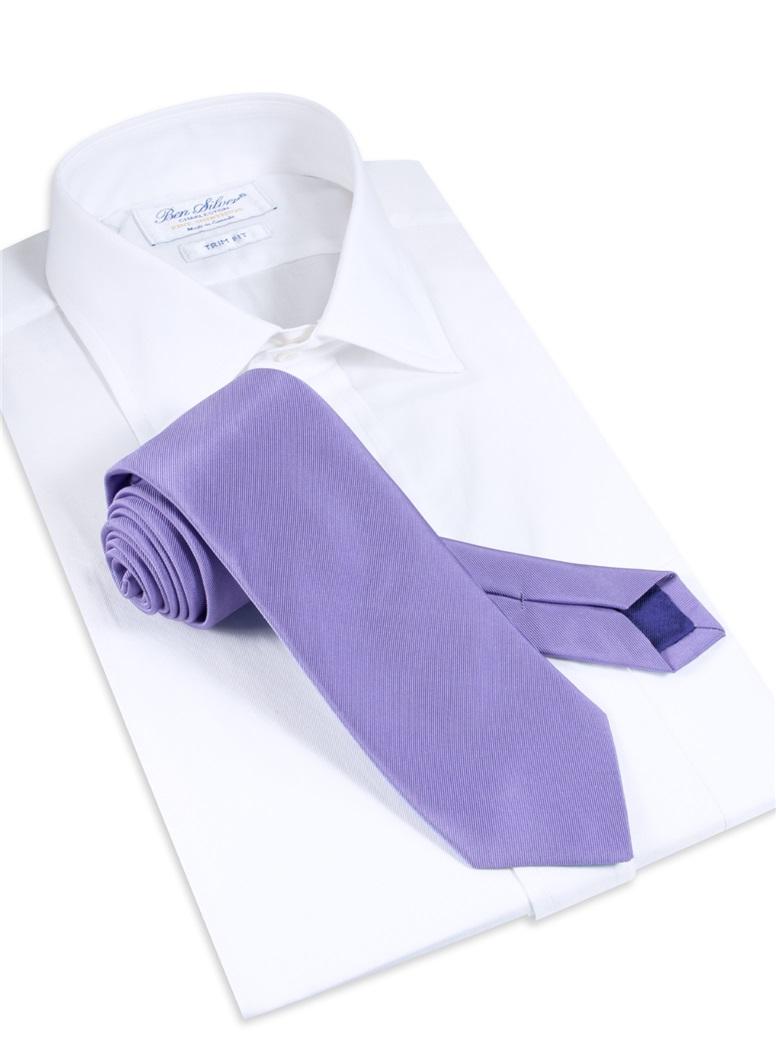 Mogador Solid Tie in Mauve