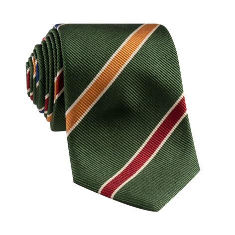 Mogador Striped Tie in Hunter