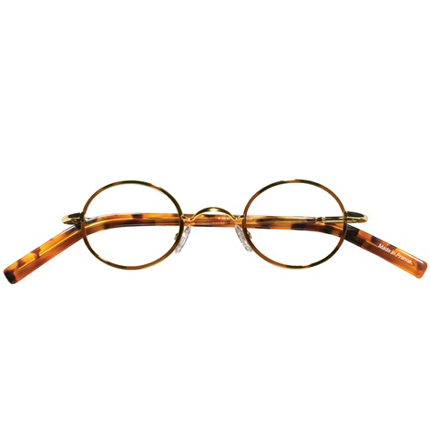 Nearly Oval Wire Frame in Tortoise with Gold
