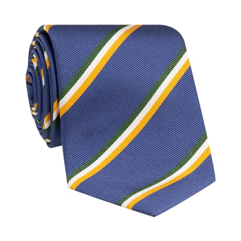 Silk Triple Stripe Tie in Royal