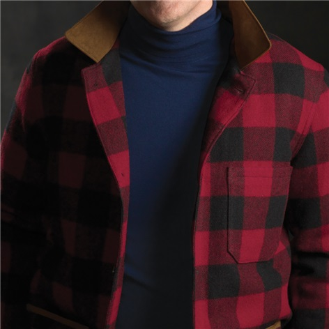 Rob Roy Check Wool Blanket Coat