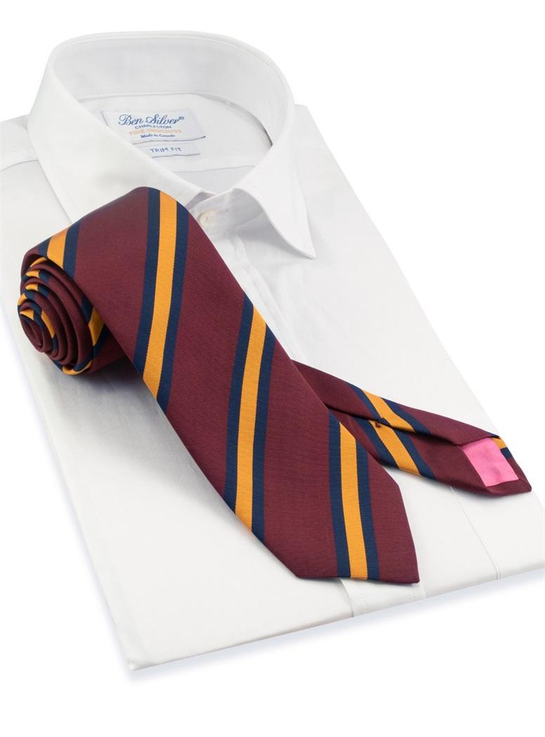 Mogador Striped Tie in Burgundy