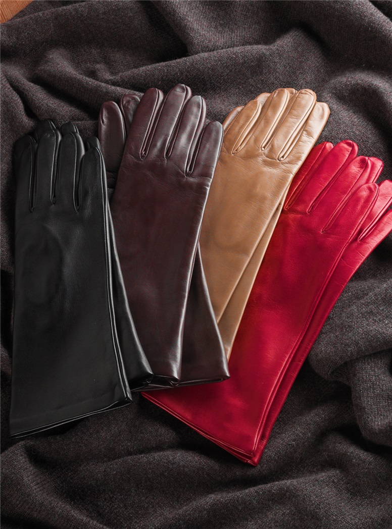 Jewel Length Silk Lined Gloves for Ladies