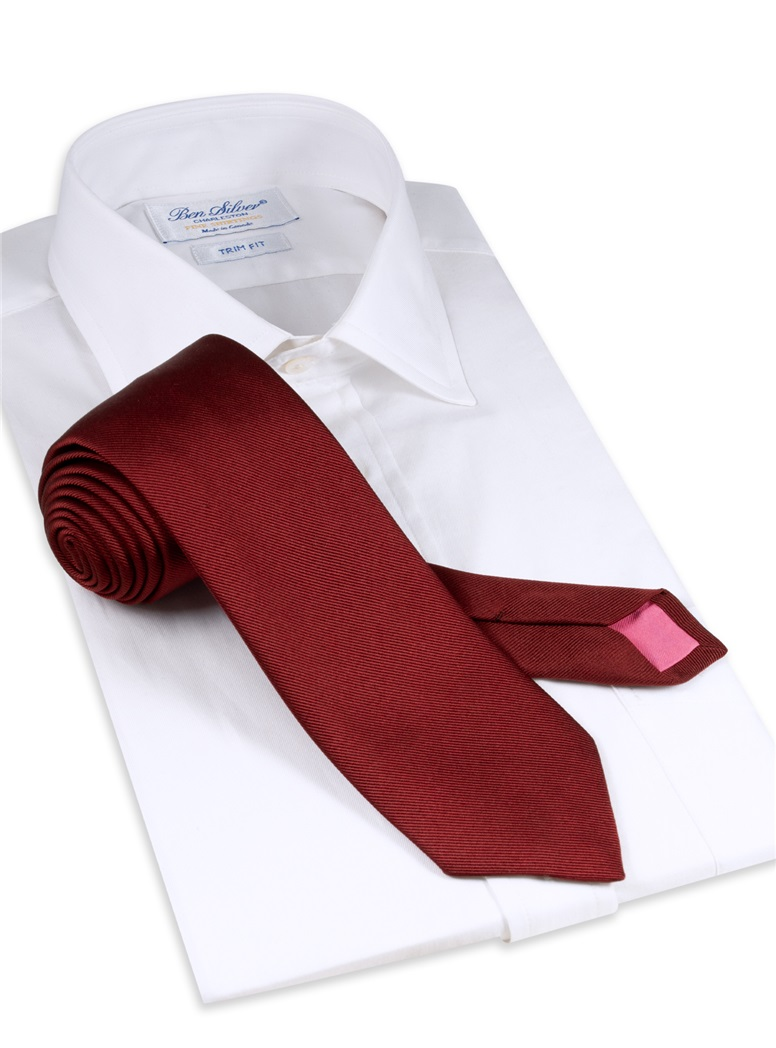 Silk Signature Solid Tie in Ruby