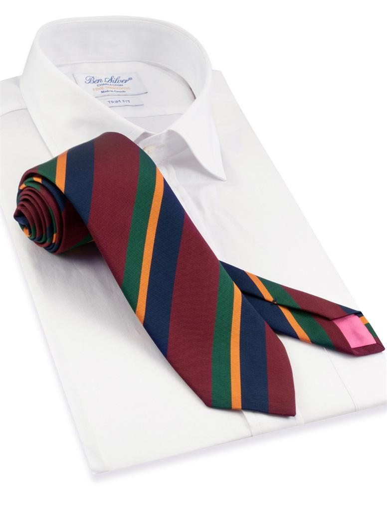 Mogador Striped Tie in Wine