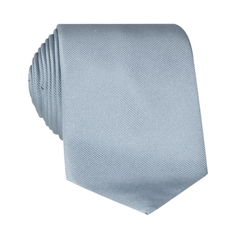 Silk Signature Solid Tie in Cloud