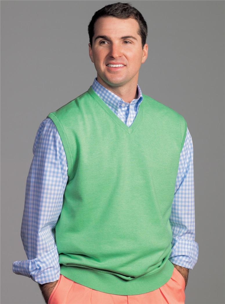 Cotton and Cashmere V-Neck Sweater Vest