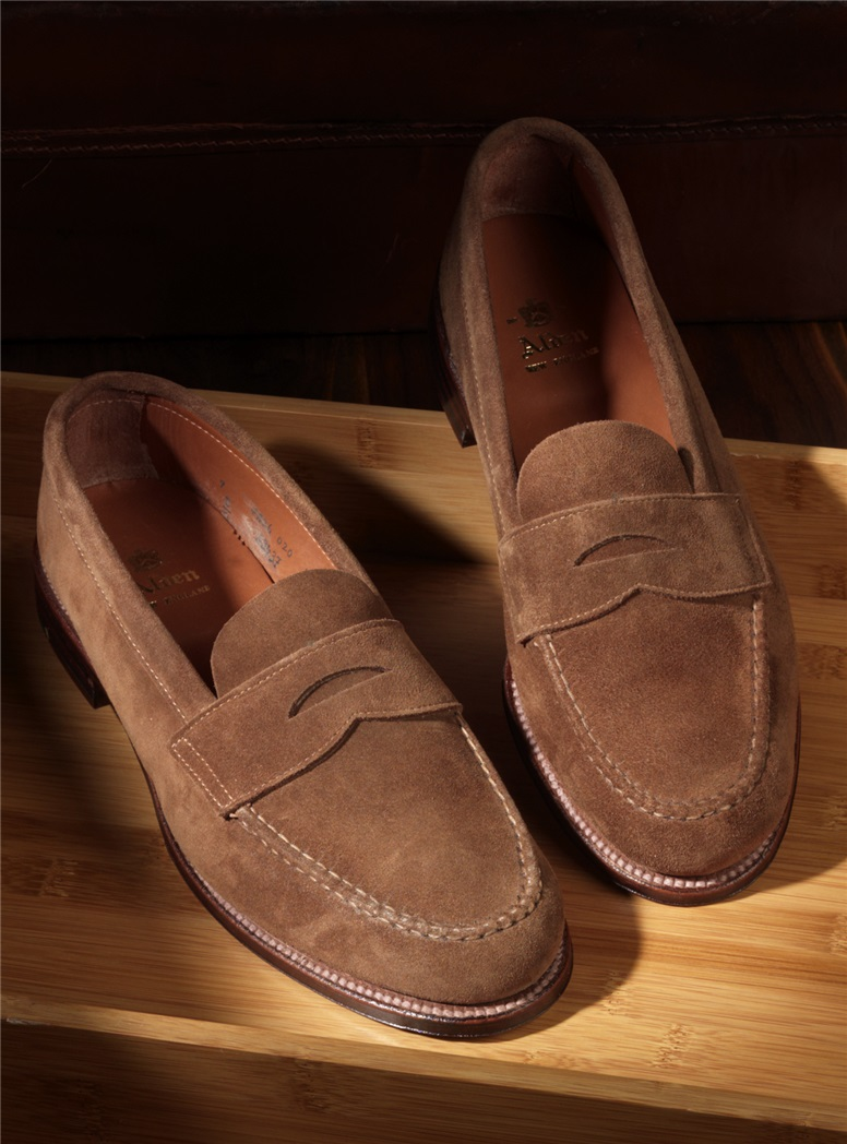 The Alden Penny Loafer in Snuff Suede