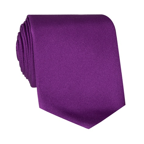 Silk Signature Solid Tie in Violet