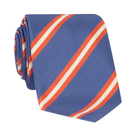 Silk Striped Tie in Ocean