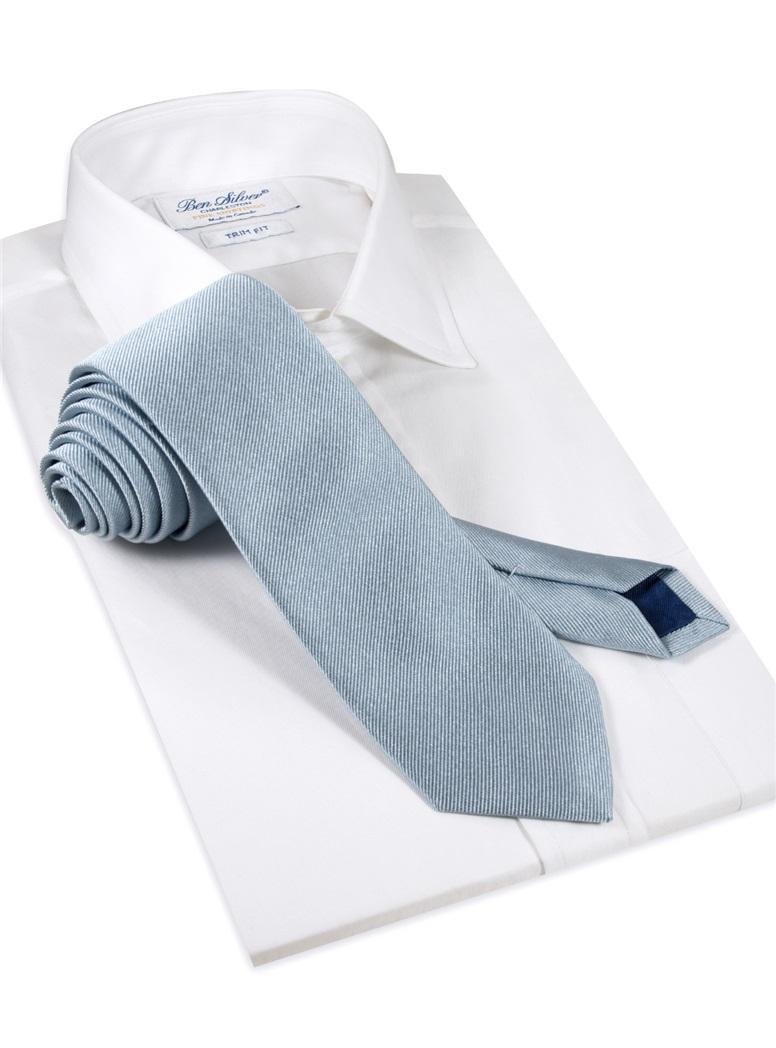 Silk Woven Solid Tie in Steel