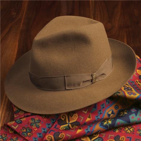 Borsalino Felt Hat in Caramel