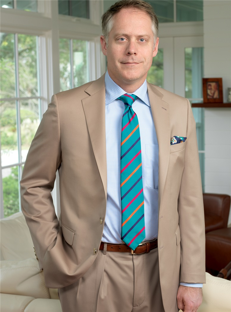 Tan Suit in Super 100s Wool