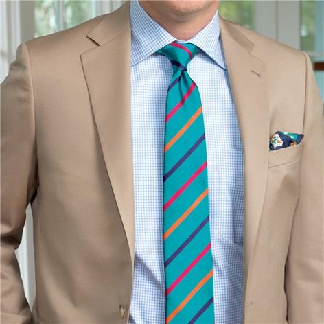 Tan Suit in Super 100s Wool