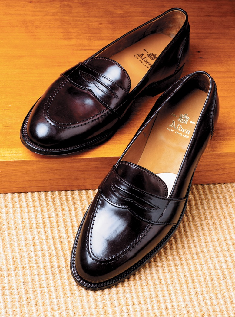 The Alden Slip-On Loafer in Cordovan