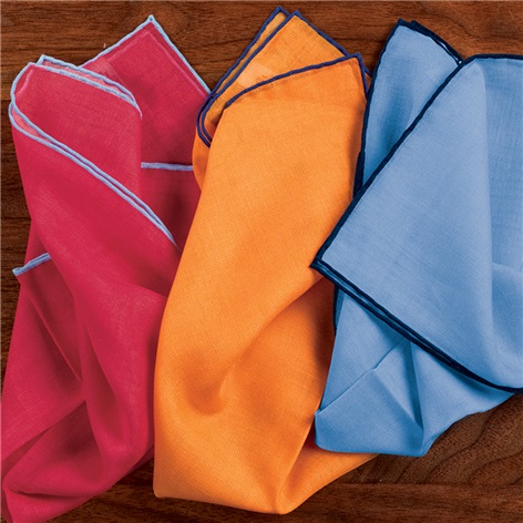 Cotton and Cashmere Solid Pocket Squares