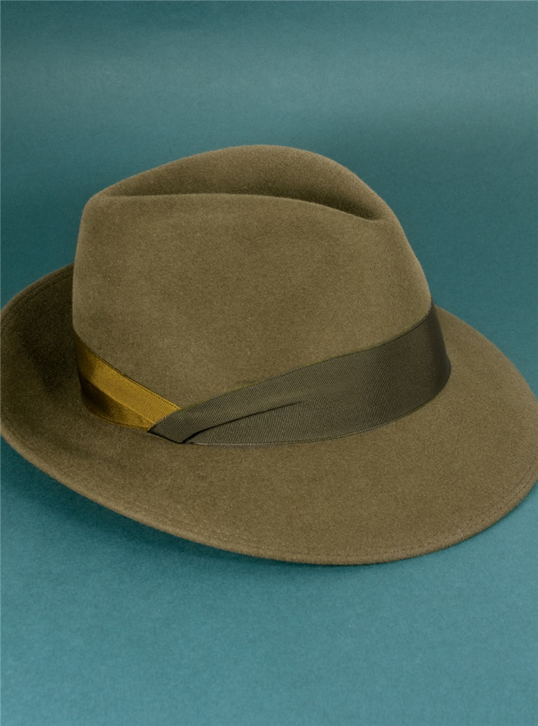 Felt Fedora Hat in Coffee
