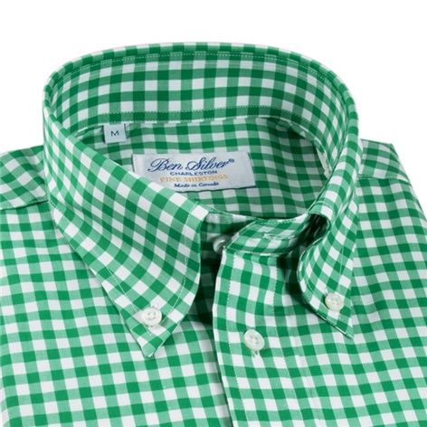 Green Gingham Shirt
