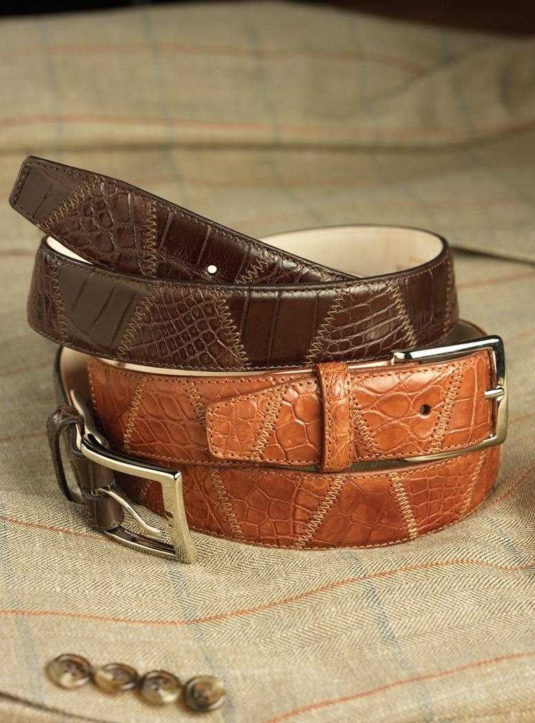 Matte Exotic Patchwork Belts