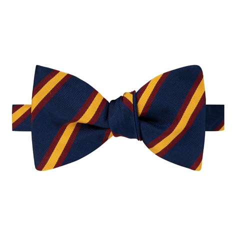 Mogador Striped Bow Tie in Navy