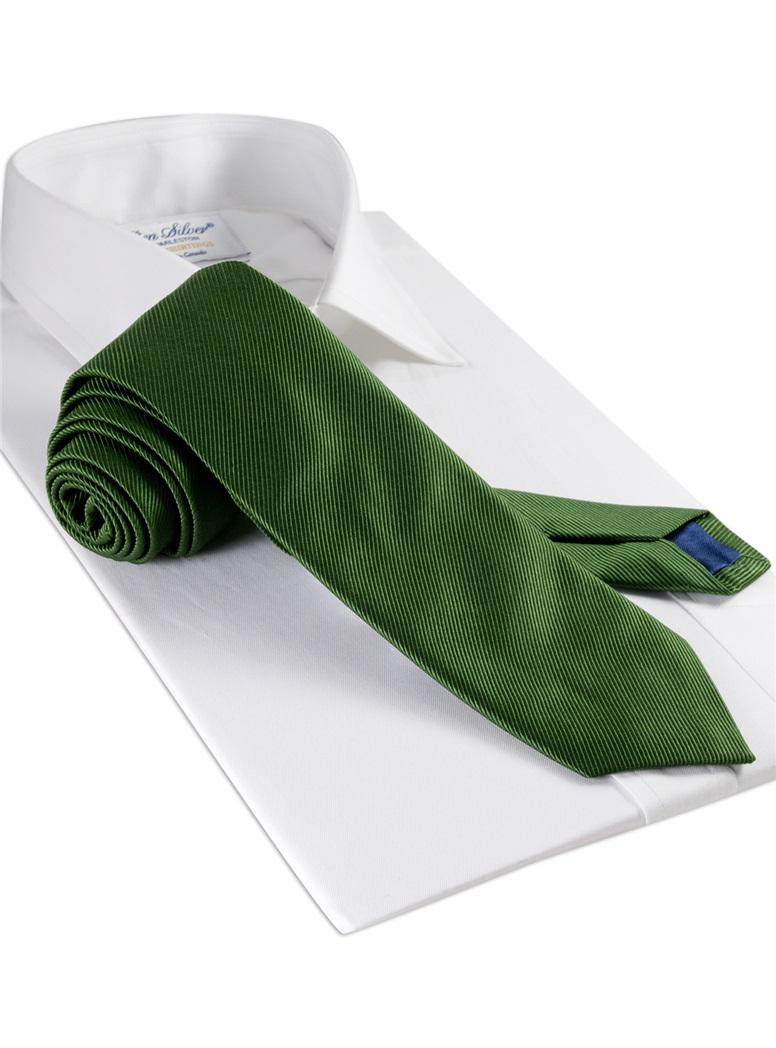 Mogador Silk Solid Signature Tie in Leaf