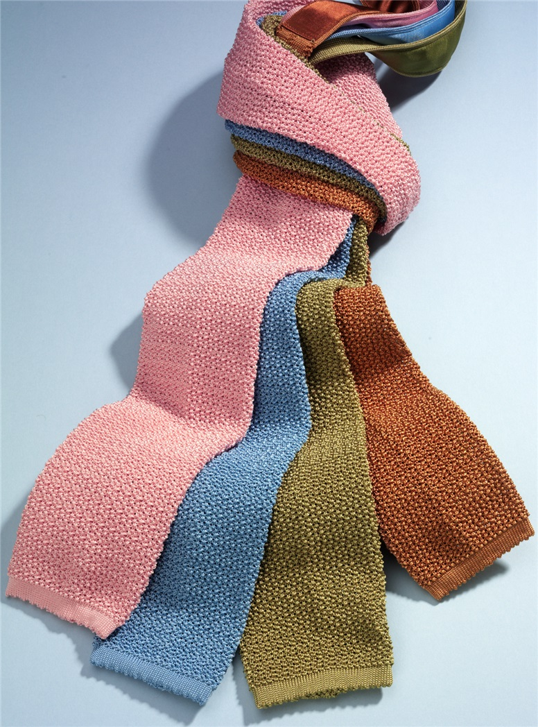 Classic Silk Knit Tie in Sky
