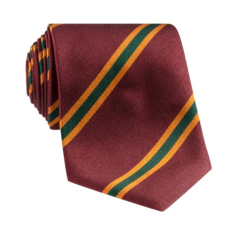 Silk Stripe Tie in Wine