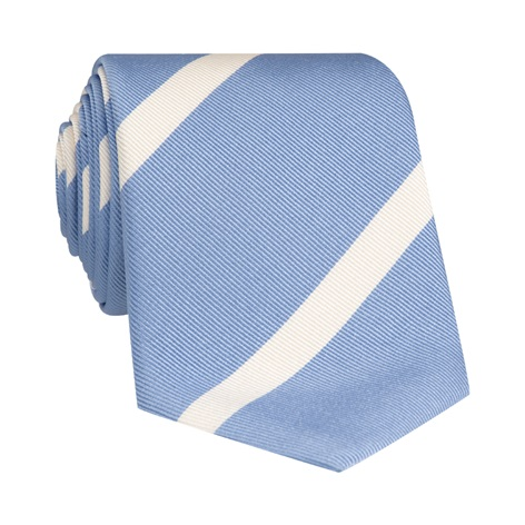 Mogador Bar Striped Tie in Sky