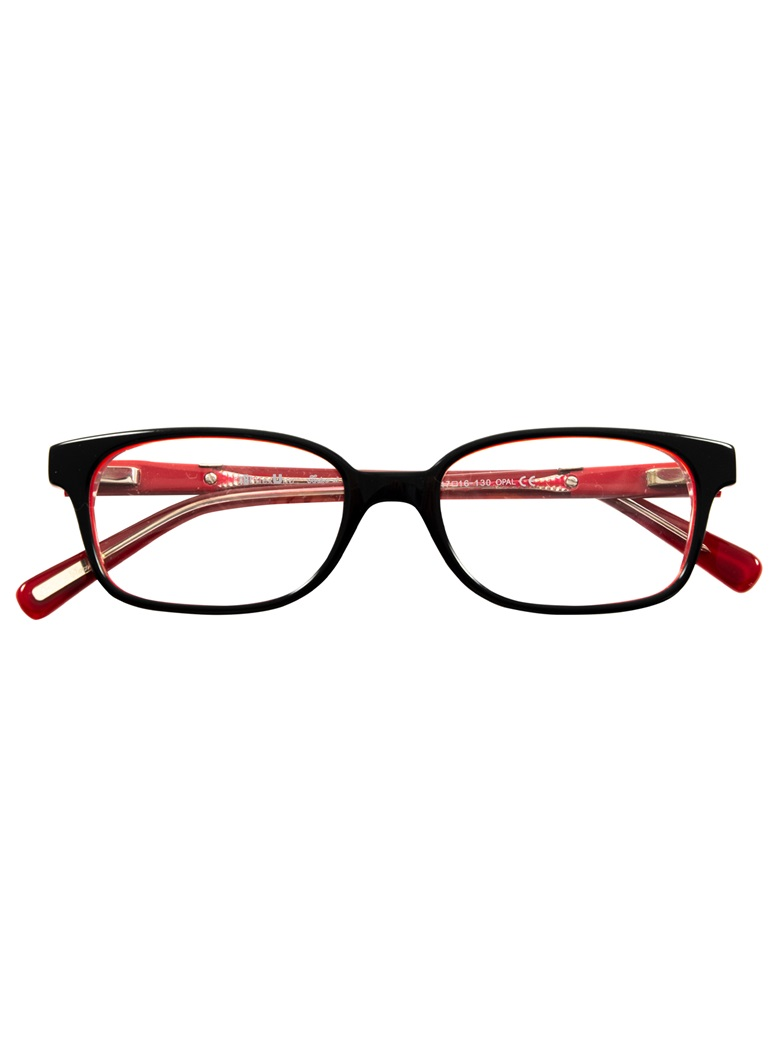 Slim Rectangular Children's Frame in Black and Red