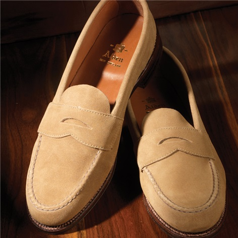 The Alden Penny Loafer in Tan Suede