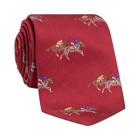 Silk Woven Derby Tie in Ruby