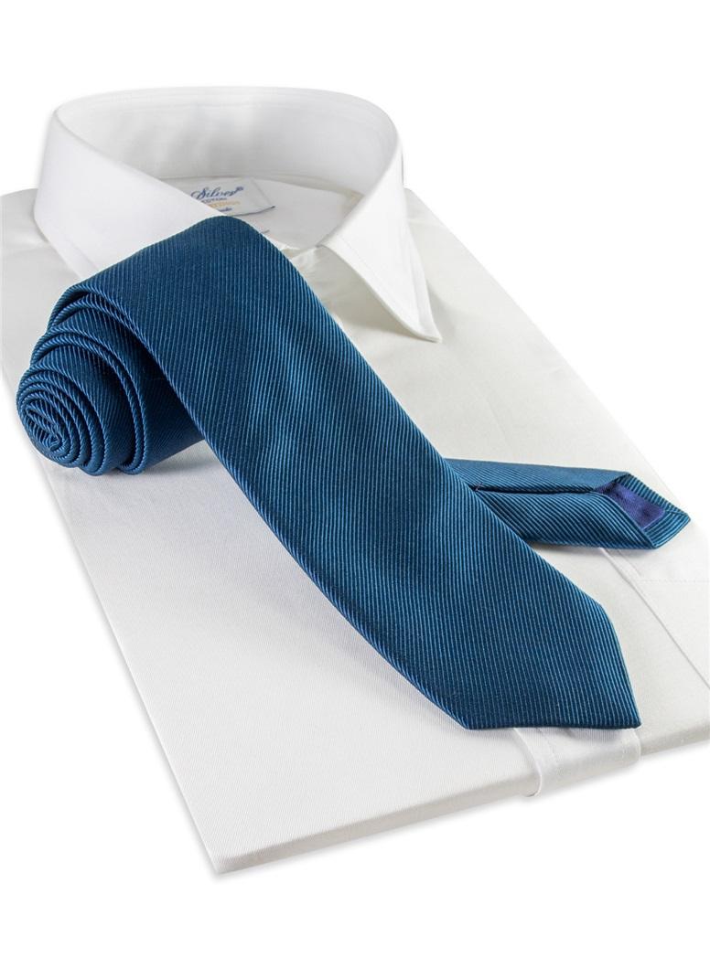 Mogador Silk Solid Signature Tie in Teal