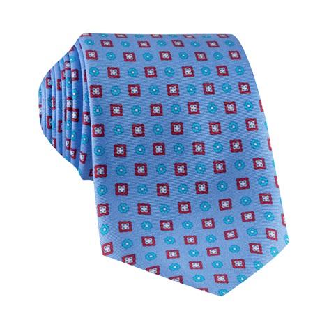 Silk Neat Print Tie in Cornflower