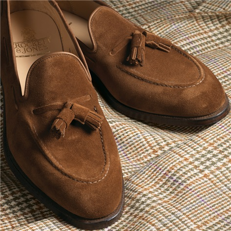 The Cavendish Tassel Loafer in Tobacco Suede