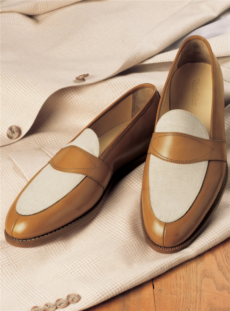 The Charleston Loafer in Whiskey and Linen