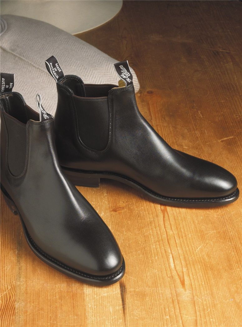 R.M. Williams Adelaide Boots in Black Leather