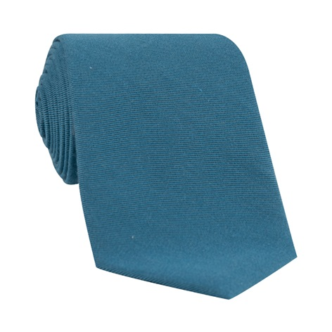 Silk and Wool Solid Tie in Teal
