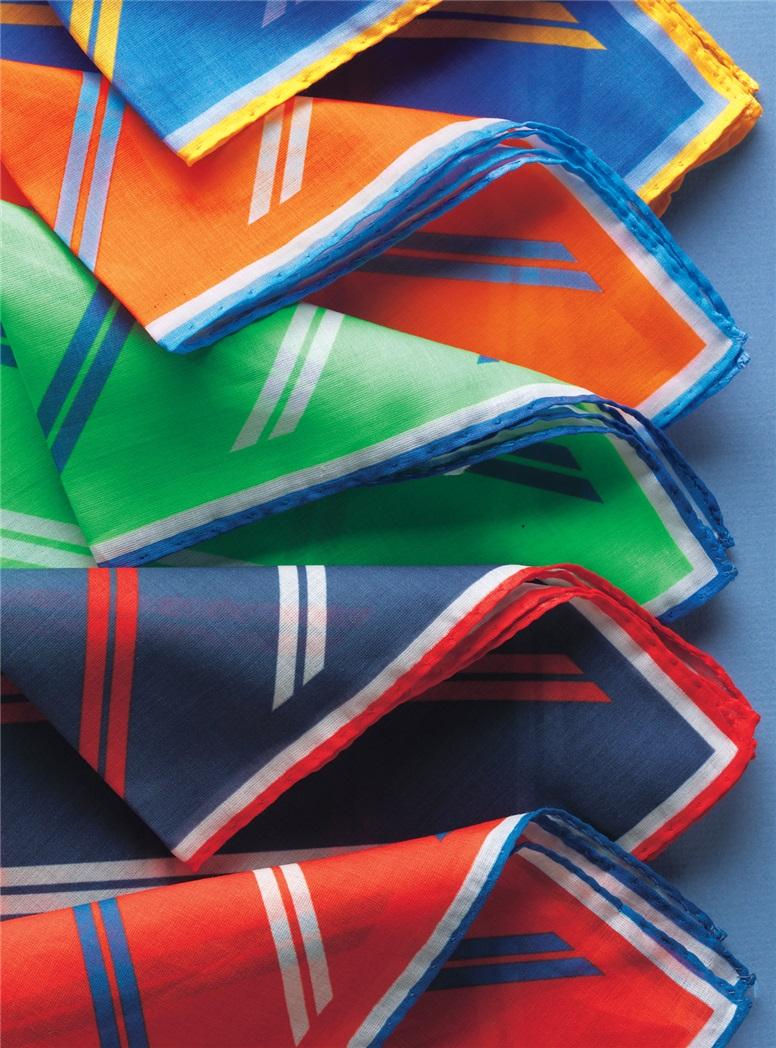 Double Bar Regimental Stripe Pocket Squares