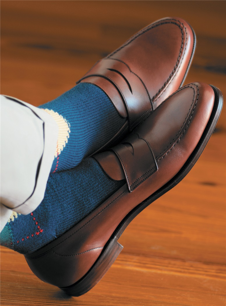 The Harvard Loafer in Burnished Chestnut