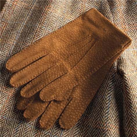 Capybara Unlined Gloves in Tobacco